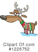 Royalty-Free (RF) Reindeer Clipart Illustration #1226752
