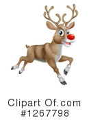 Royalty-Free (RF) Reindeer Clipart Illustration #1267798