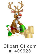 Royalty-Free (RF) Reindeer Clipart Illustration #1409928