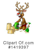 Royalty-Free (RF) Reindeer Clipart Illustration #1419397