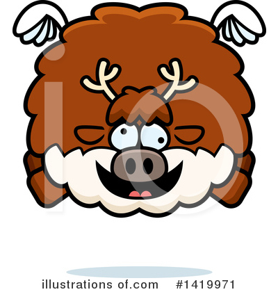 Reindeer Clipart #1419971 by Cory Thoman