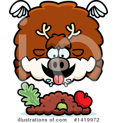 Reindeer Clipart #1419972 by Cory Thoman