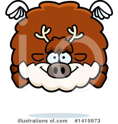 Reindeer Clipart #1419973 by Cory Thoman