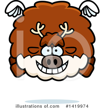 Reindeer Clipart #1419974 by Cory Thoman