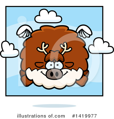 Reindeer Clipart #1419977 by Cory Thoman