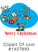 Reindeer Clipart #1437893 by toonaday