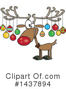 Reindeer Clipart #1437894 by toonaday