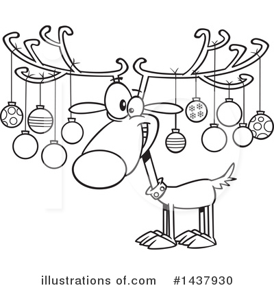 Reindeer Clipart #1437930 by toonaday
