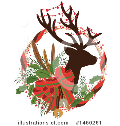 Reindeer Clipart #1460261 by Cherie Reve