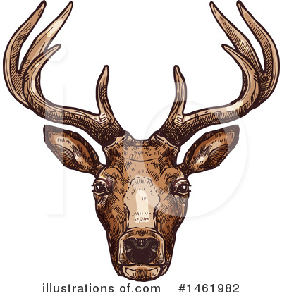 Deer Clipart #1461982 by Vector Tradition SM