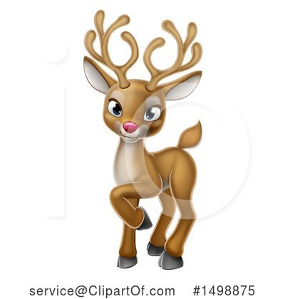 Rudolph Clipart #1498875 by AtStockIllustration