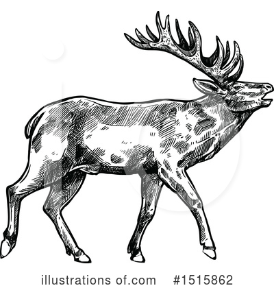 Elk Clipart #1515862 by Vector Tradition SM