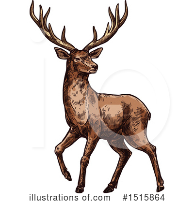 Deer Clipart #1515864 by Vector Tradition SM