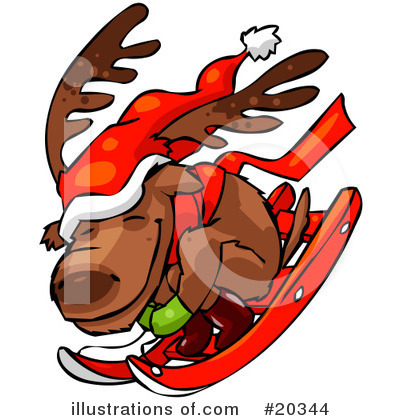 Royalty-Free (RF) Reindeer Clipart Illustration by Tonis Pan - Stock Sample #20344