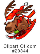 Royalty-Free (RF) Reindeer Clipart Illustration #20344