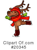 Royalty-Free (RF) Reindeer Clipart Illustration #20345