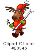 Royalty-Free (RF) Reindeer Clipart Illustration #20346
