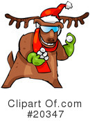 Royalty-Free (RF) Reindeer Clipart Illustration #20347