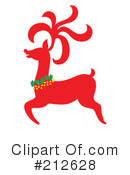 Royalty-Free (RF) Reindeer Clipart Illustration #212628