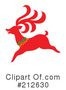 Royalty-Free (RF) Reindeer Clipart Illustration #212630