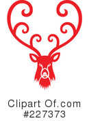 Royalty-Free (RF) Reindeer Clipart Illustration #227373