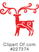 Royalty-Free (RF) Reindeer Clipart Illustration #227374