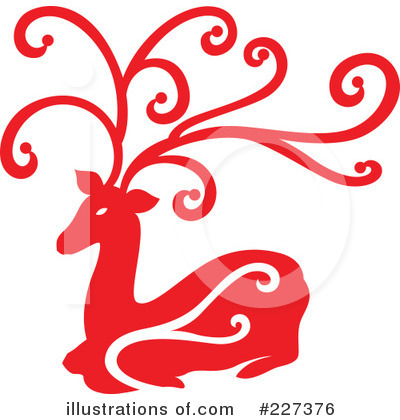 Reindeer Clipart #227376 by Cherie Reve