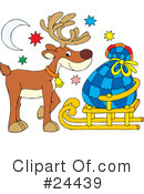 Royalty-Free (RF) Reindeer Clipart Illustration #24439