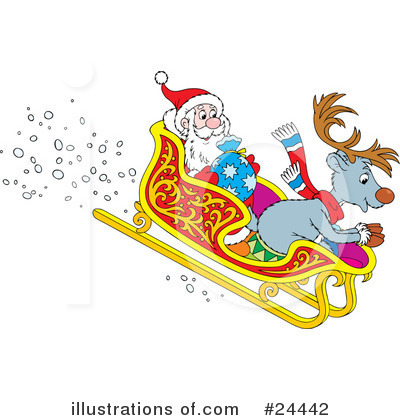 Royalty-Free (RF) Reindeer Clipart Illustration by Alex Bannykh - Stock Sample #24442