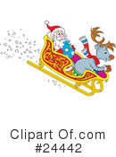 Royalty-Free (RF) Reindeer Clipart Illustration #24442
