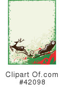 Royalty-Free (RF) Reindeer Clipart Illustration #42098