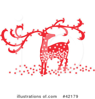 Royalty-Free (RF) Reindeer Clipart Illustration by Cherie Reve - Stock Sample #42179
