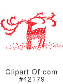 Royalty-Free (RF) Reindeer Clipart Illustration #42179