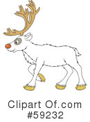 Royalty-Free (RF) Reindeer Clipart Illustration #59232