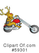 Royalty-Free (RF) Reindeer Clipart Illustration #59301
