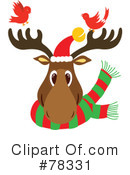 Royalty-Free (RF) Reindeer Clipart Illustration #78331