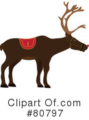 Royalty-Free (RF) Reindeer Clipart Illustration #80797