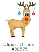 Royalty-Free (RF) Reindeer Clipart Illustration #82575