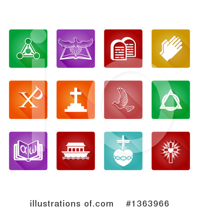 Christian Icons Clipart #1363966 by AtStockIllustration