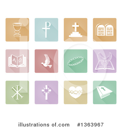 Christian Icons Clipart #1363967 by AtStockIllustration