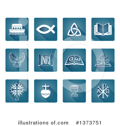 Christian Icons Clipart #1373751 by AtStockIllustration