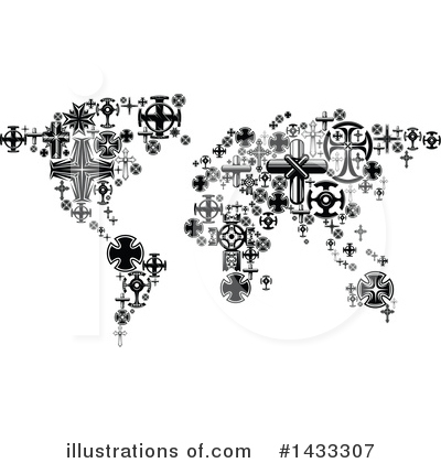 Map Clipart #1433307 by Vector Tradition SM