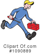 Royalty-Free (RF) Repair Man Clipart Illustration #1090889