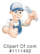 Royalty-Free (RF) Repair Man Clipart Illustration #1111492