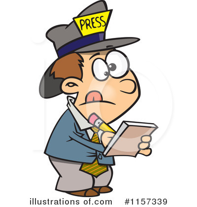 Reporter Clipart #1157339 by toonaday
