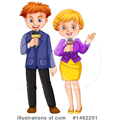 Reporter Clipart #1462201 by Graphics RF