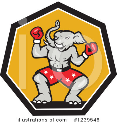 Republican Elephant Clipart #1239546 by patrimonio