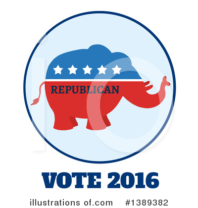 Republican Elephant Clipart #1389382 by Hit Toon