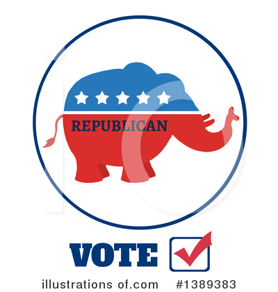 Republican Elephant Clipart #1389383 by Hit Toon