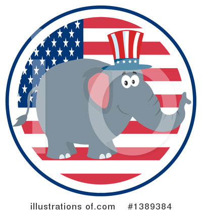 Republican Elephant Clipart #1389384 by Hit Toon